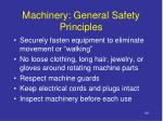 machinery general safety principles