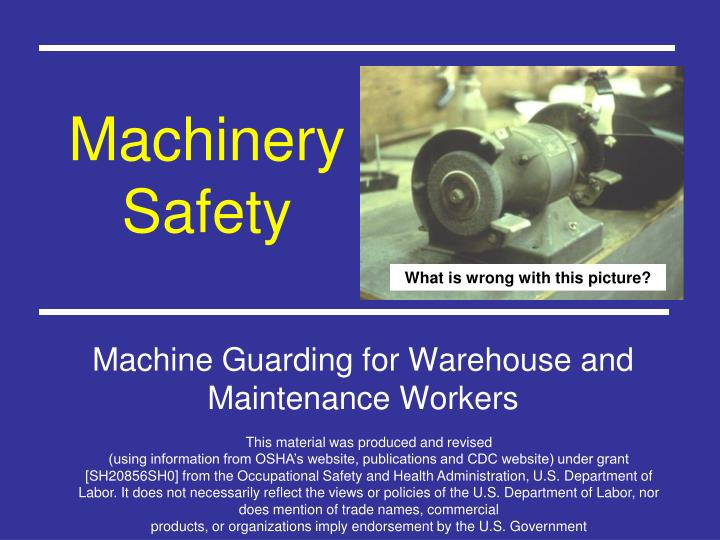 machinery safety n.