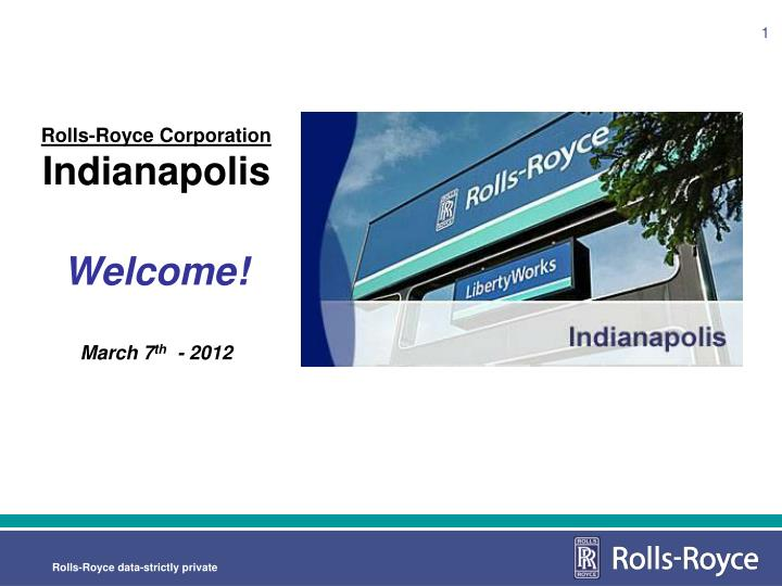 Rolls royce corporation indianapolis welcome march 7 th 2012