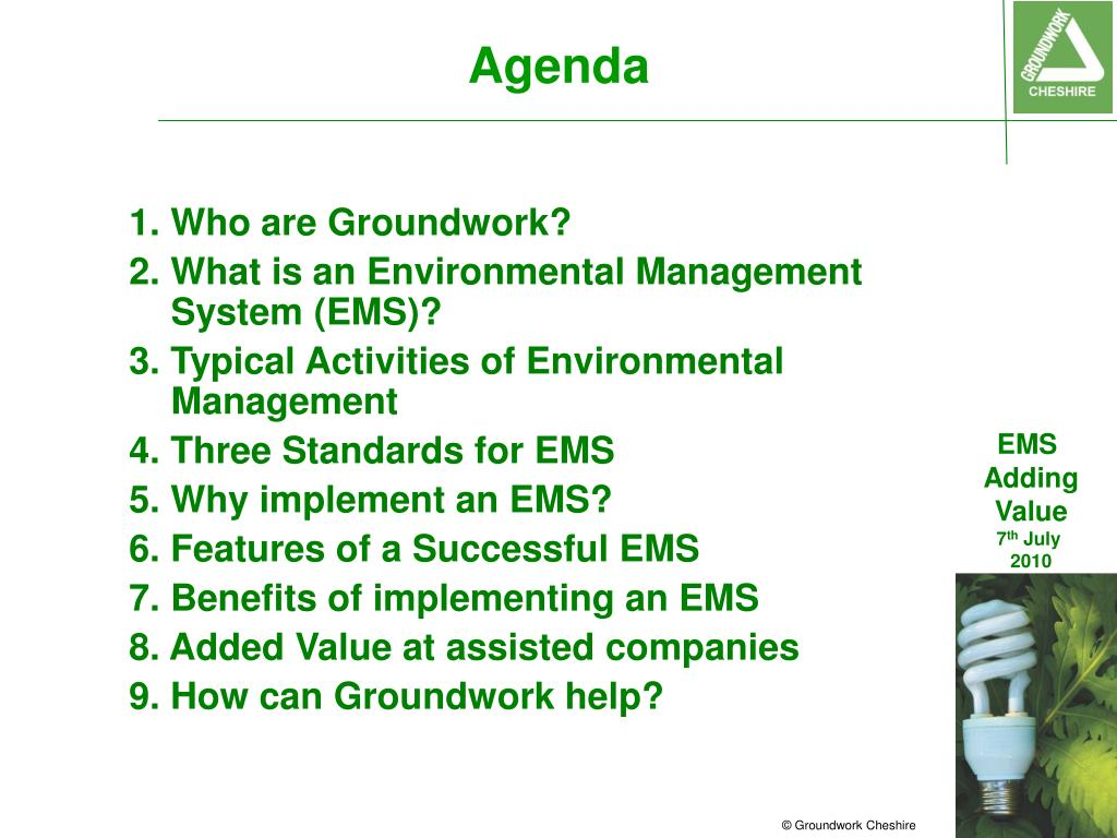 PPT - Environmental Management Systems (EMS) - Adding Value