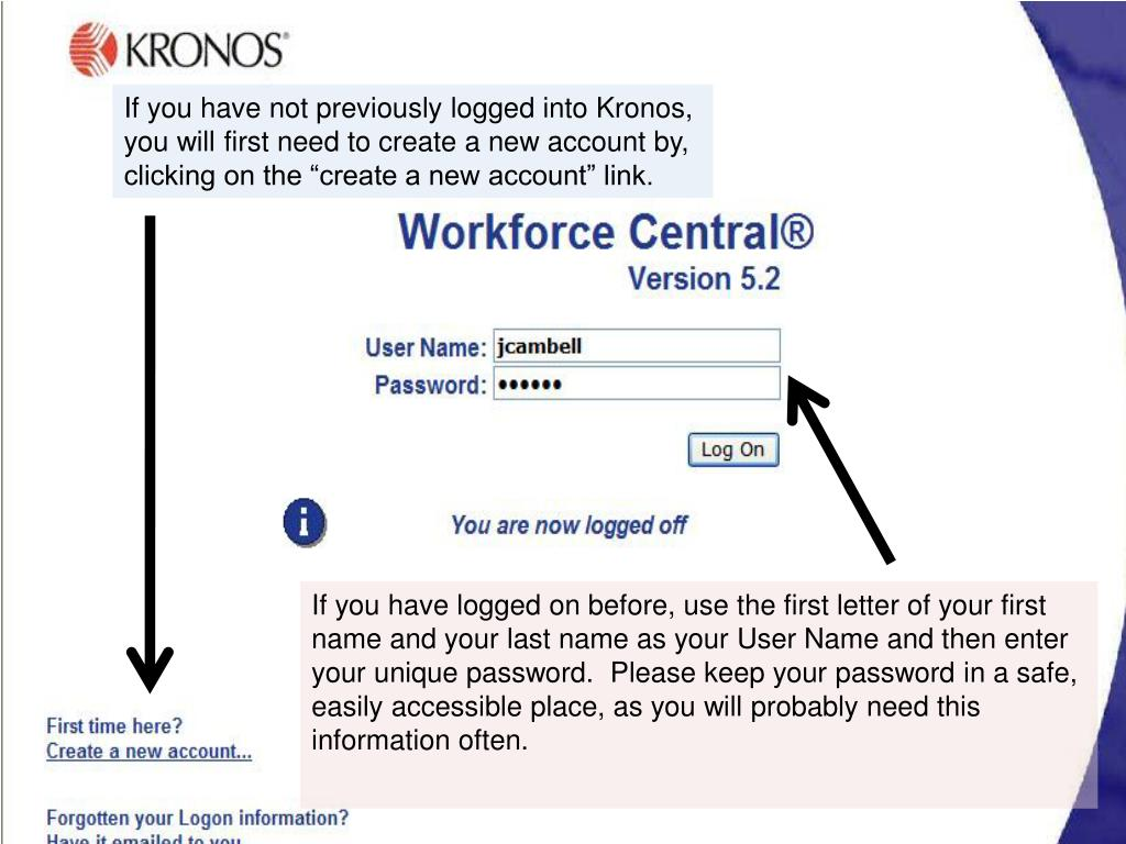 Kronos Create Account