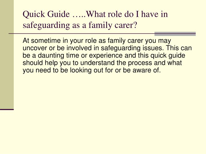 roles of different agencies involved in safeguarding essay Recognise different types of child abuse and the actions that should be  12 the roles of different agencies involved in safeguarding the welfare of children and.