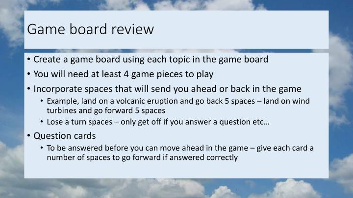 Game board review