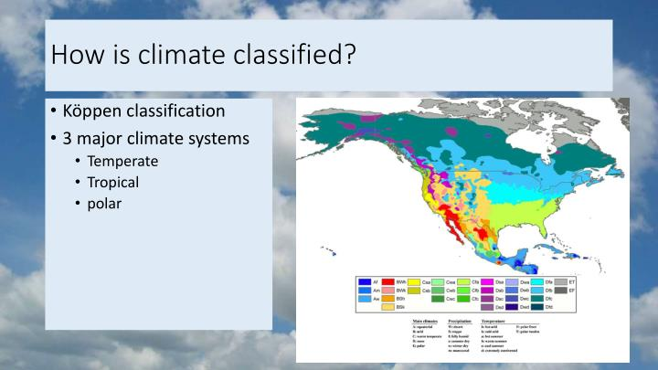 How is climate classified?