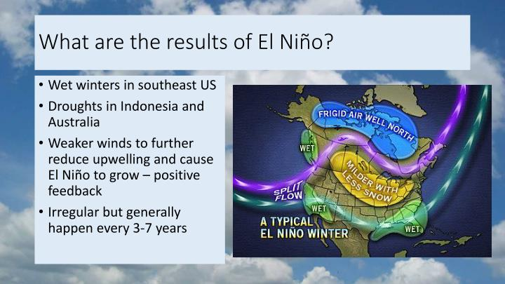 What are the results of El Niño?