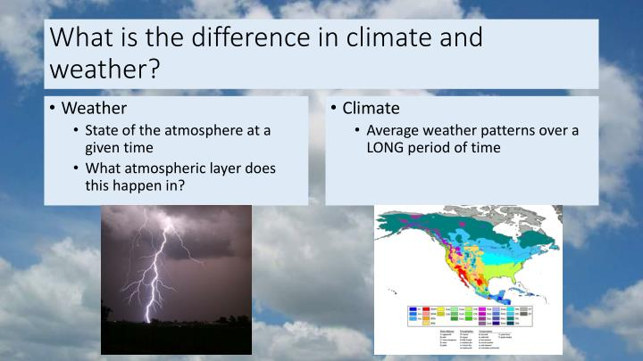 What is the difference in climate and weather?