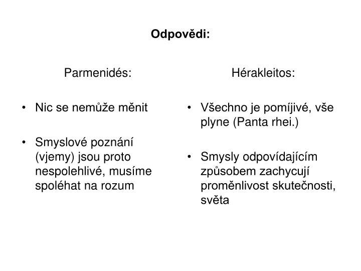 Parmenidés: