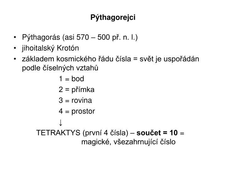 Pýthagorejci