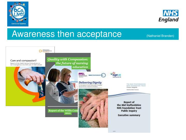Awareness then acceptance
