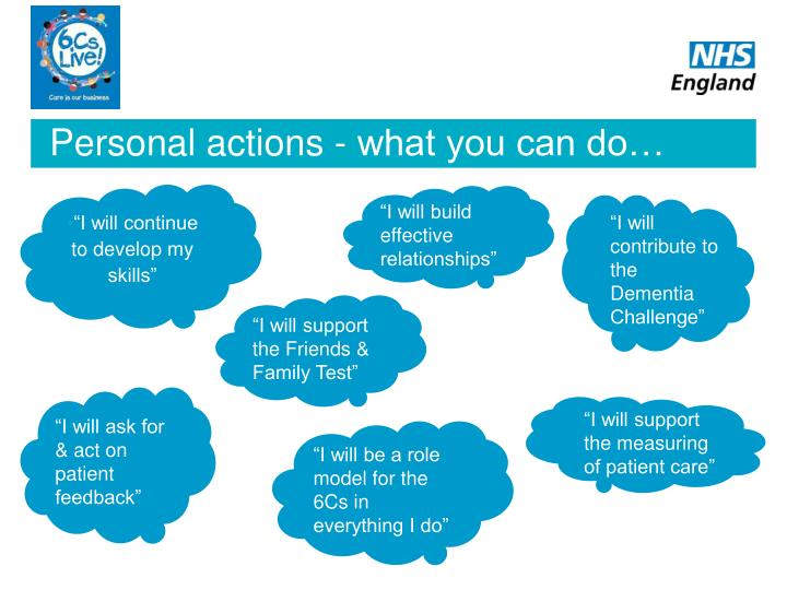 Personal actions - what you can do…