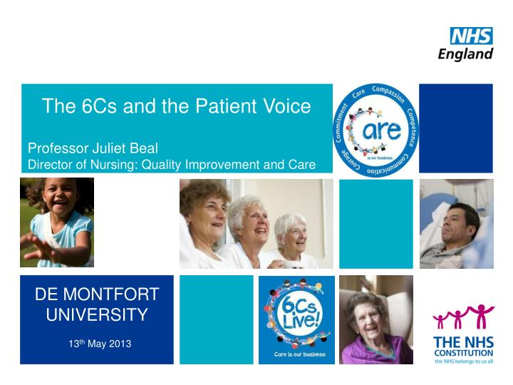 The 6Cs and the Patient Voice