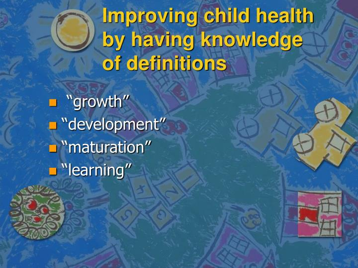 definition of child growth and development
