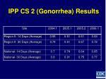 ipp cs 2 gonorrhea results
