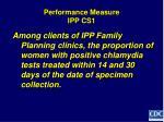 performance measure ipp cs1