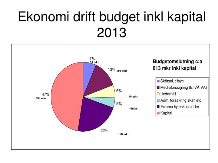 Ekonomi drift budget inkl kapital 2013