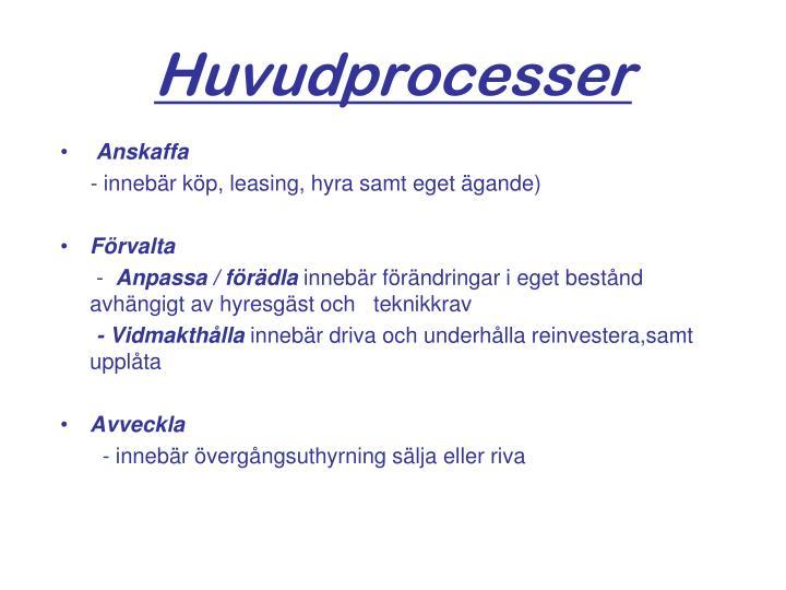 Huvudprocesser