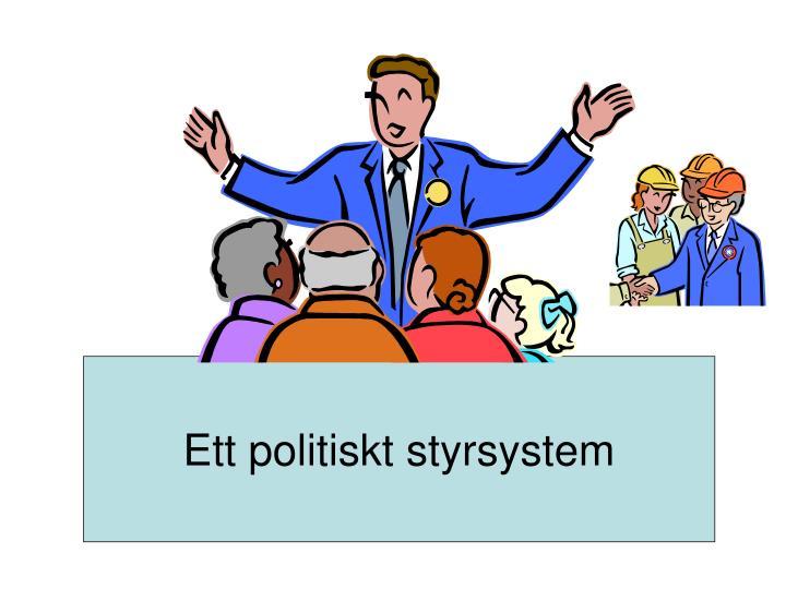 Ett politiskt styrsystem