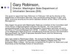 gary robinson director washington state department of information services dis