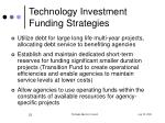 technology investment funding strategies