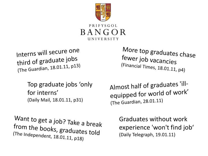 Interns will secure one third of graduate jobs