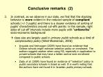 conclusive remarks 2