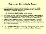 regression discontinuity design