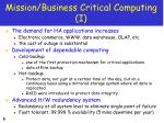 mission business critical computing i