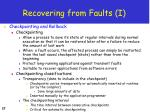 recovering from faults i