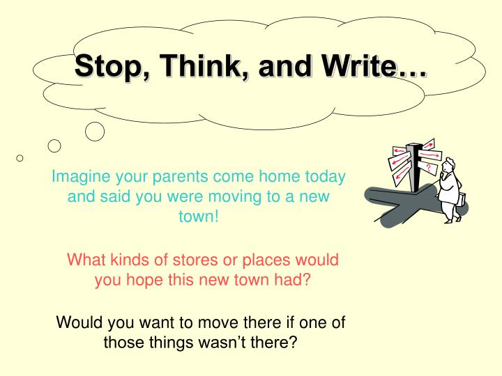 stop think and write n.