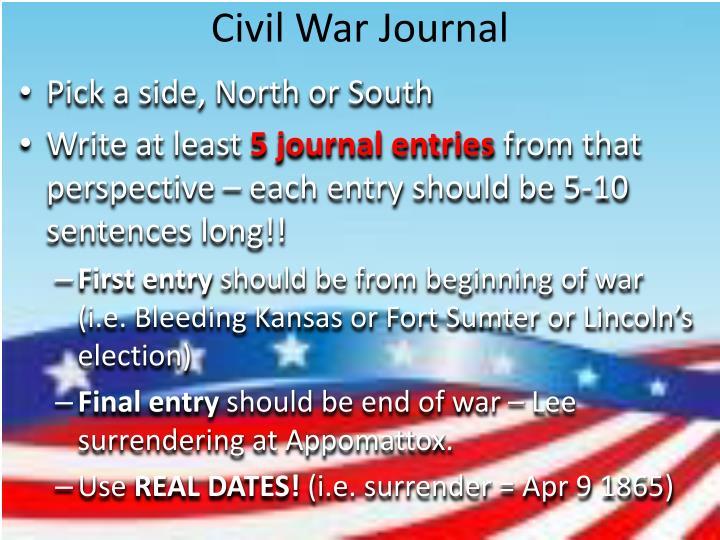 Civil War Journal