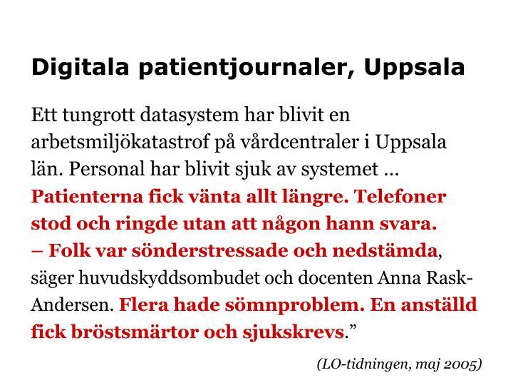 Digitala patientjournaler, Uppsala