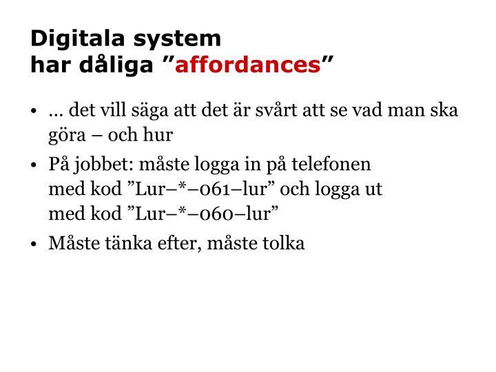 Digitala system