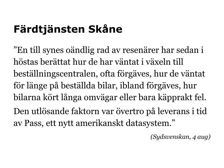 Färdtjänsten Skåne