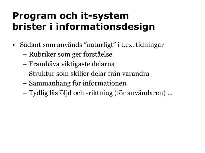 Program och it-system