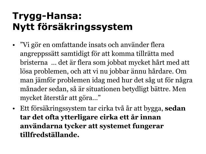 Trygg-Hansa: