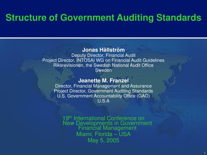 structure of government auditing standards n.