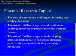 potential research topics