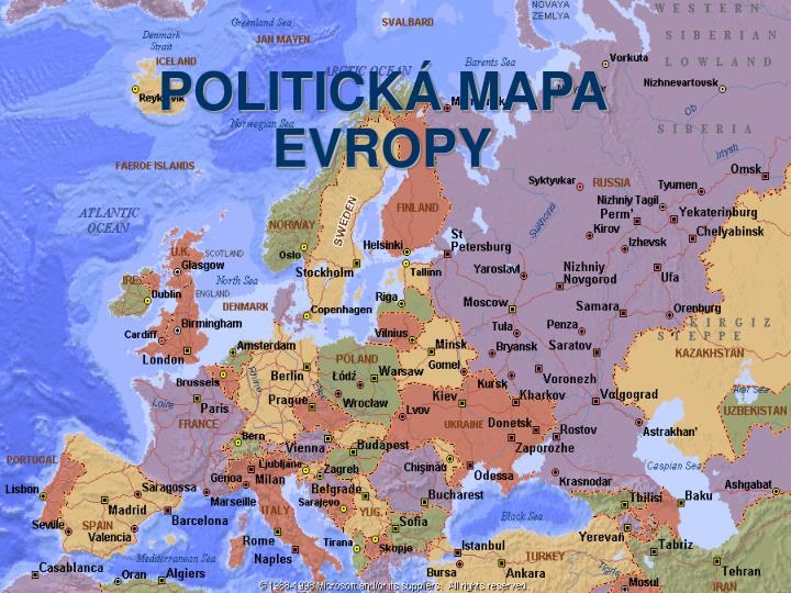 Ppt Politicka Mapa Evropy Powerpoint Presentation Free Download
