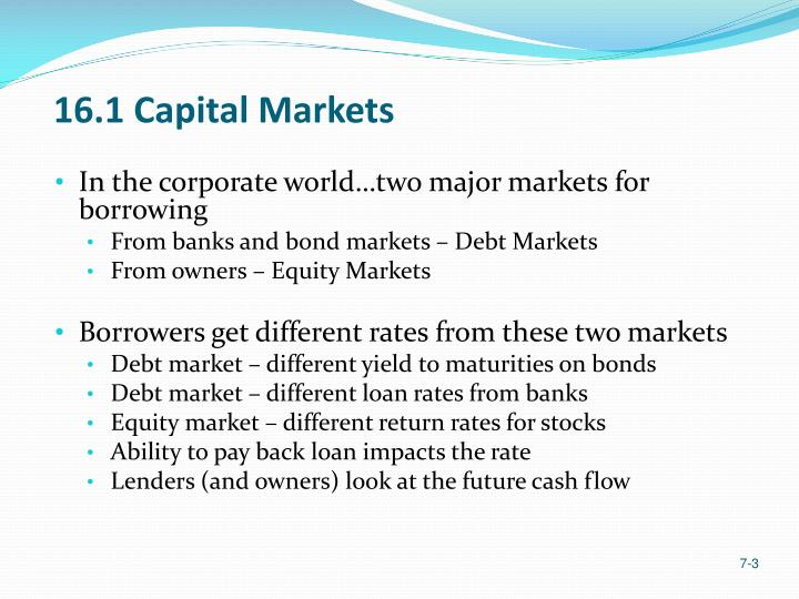16.1 Capital Markets