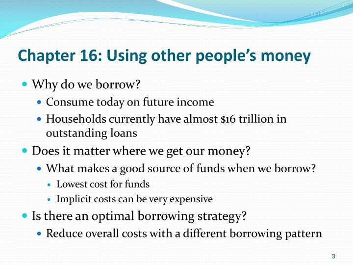 Chapter 16 using other people s money