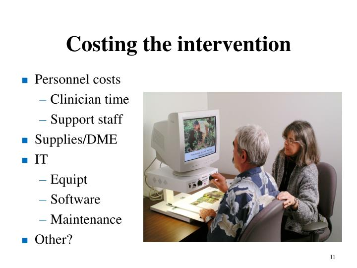 Costing the intervention