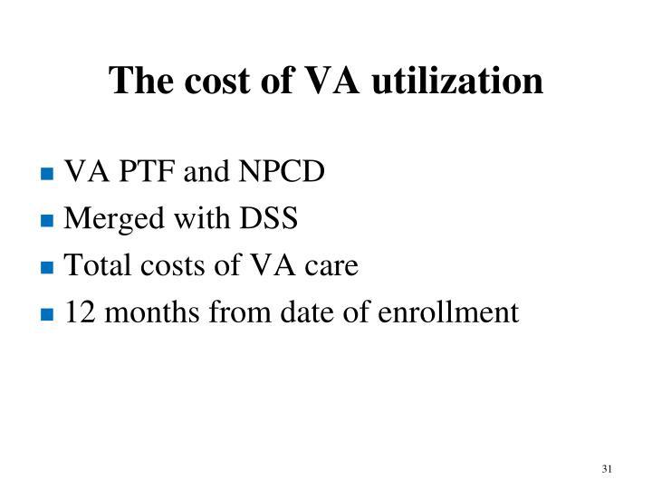The cost of VA utilization