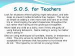 s o s for teachers3