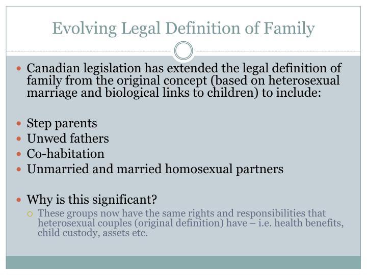 Evolving legal definition of family