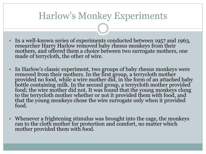 Harlow's Monkey Experiments