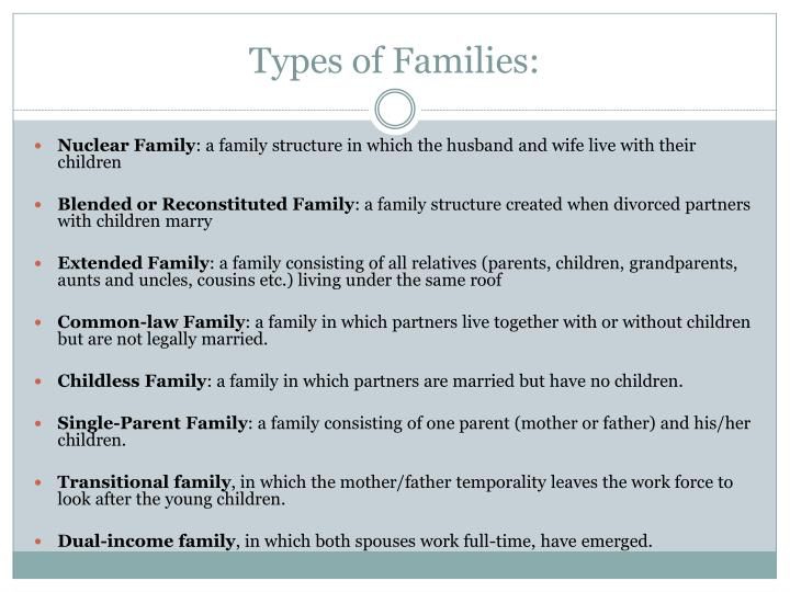 Types of Families:
