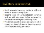 inventory in reverse sc