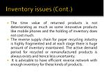 inventory issues cont