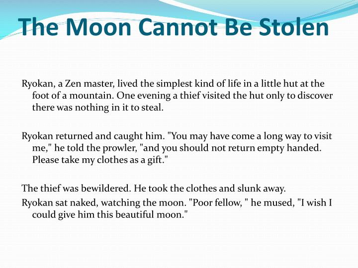 The Moon Cannot Be Stolen
