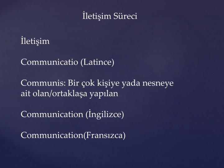 İletişim